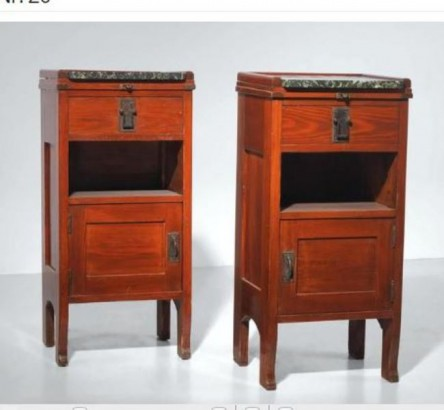 Pair of Bedside Table, Franz Freiherr von Krauß