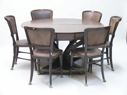 Dining table with 8 chairs, Robert Fix