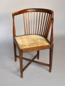 Corner chair with stool, School Olbrich