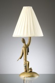 Lamp stand with young man, Karl Hagenauer