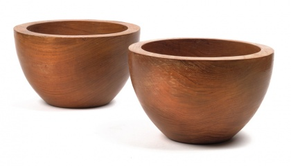 Pair of wooden bowls, Franz Hagenauer