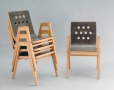 Stacking Chair 3/4/3, Roland Rainer