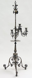 Iron Candlelight Holder, Josef Ritter von Storck